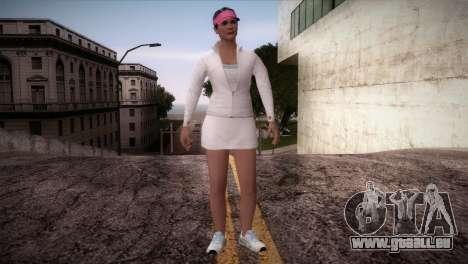 GTA 5 Amanda De Santa Tennis Skin für GTA San Andreas zweiten Screenshot