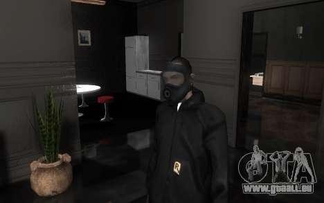GTA5 Gasmask für GTA San Andreas siebten Screenshot