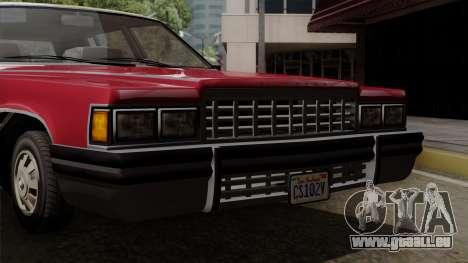 GTA 5 Albany Emperor IVF pour GTA San Andreas vue de droite