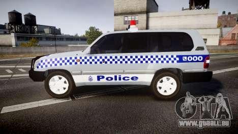 Toyota Land Cruiser 100 2005 Police [ELS] für GTA 4 linke Ansicht