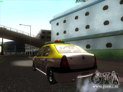 Dacia Logan Taxi UNIVIP für GTA San Andreas linke Ansicht