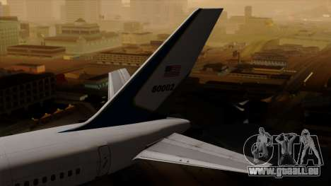 Boeing C-32 Air Force Two pour GTA San Andreas sur la vue arrière gauche