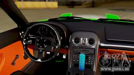 Mazda MX-5 BnSports pour GTA San Andreas vue de dessus