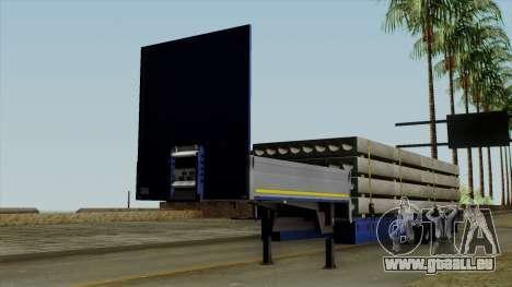 Flatbed3 Blue für GTA San Andreas
