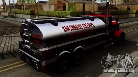 FDSA Helicopter Tender Truck pour GTA San Andreas sur la vue arrière gauche