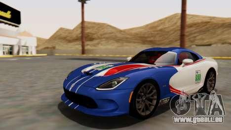 Dodge Viper SRT GTS 2013 HQLM (MQ PJ) für GTA San Andreas Innenansicht