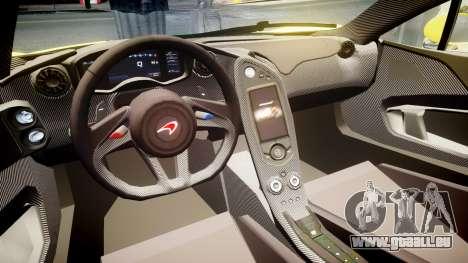 McLaren P1 2014 [EPM] Harrods GTR pour GTA 4 Vue arrière