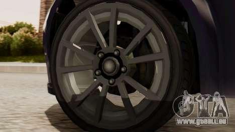 GTA 5 Cheval Fugitive IVF für GTA San Andreas zurück linke Ansicht
