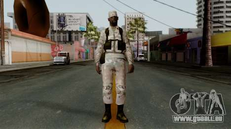 Der Afro-amerikanischen Soldaten Multicam für GTA San Andreas zweiten Screenshot