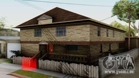 Le nouvel intérieur de la maison de CJ pour GTA San Andreas