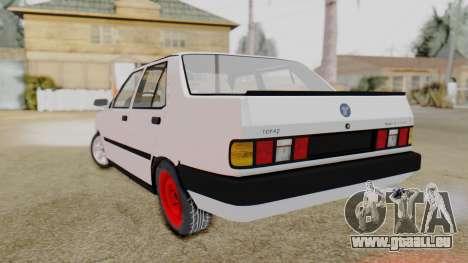 Tofas Turbo SLX 1.6 pour GTA San Andreas laissé vue