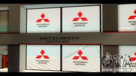 La Mitsubishi Motors Concessionnaire pour GTA San Andreas troisième écran