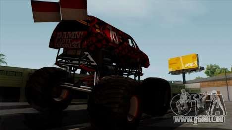The Seventy Monster v2 pour GTA San Andreas sur la vue arrière gauche