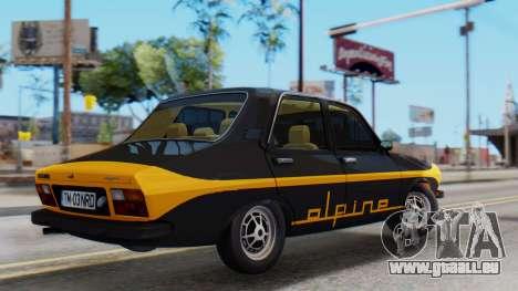 Renault 12 Alpine pour GTA San Andreas sur la vue arrière gauche