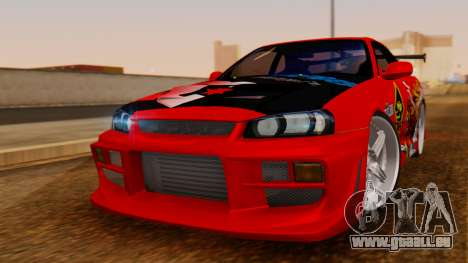 Nissan Skyline R34 Drift Monkey pour GTA San Andreas