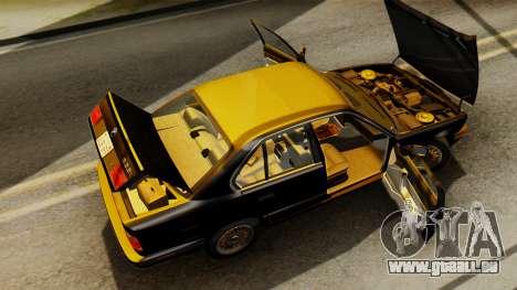 BMW 535i E34 1993 pour GTA San Andreas vue intérieure