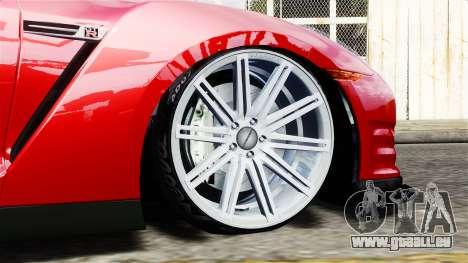 Nissan GT-R AMS 2012 pour GTA 4 Vue arrière de la gauche