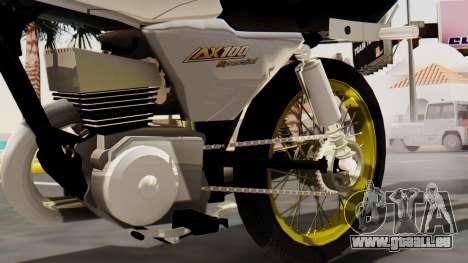Suzuki AX 100 Stunt pour GTA San Andreas vue de droite