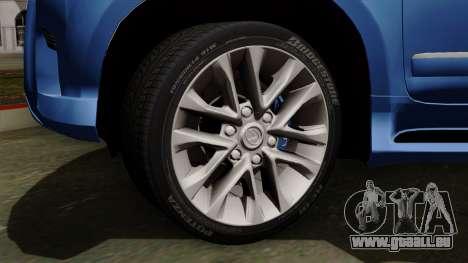 Lexus GX460 2014 v1 pour GTA San Andreas sur la vue arrière gauche