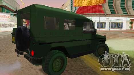 Mercedes-Benz G Wolf Croatian Army für GTA San Andreas linke Ansicht