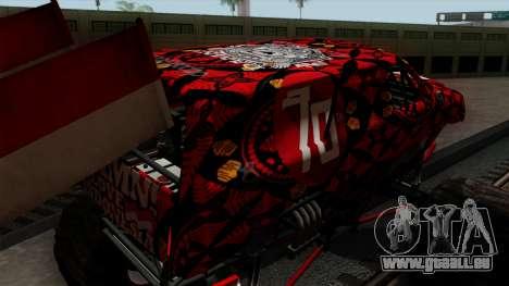 The Seventy Monster v2 pour GTA San Andreas vue de côté