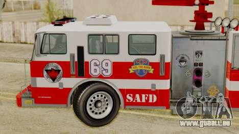 MTL SAFD Firetruck pour GTA San Andreas sur la vue arrière gauche