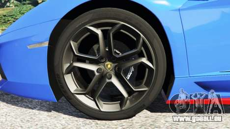 GTA 5 Lamborghini Aventador LP700-4 v1.2 hinten rechts