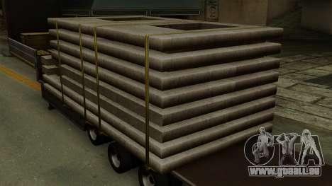 Flatbed3 Grey für GTA San Andreas Rückansicht