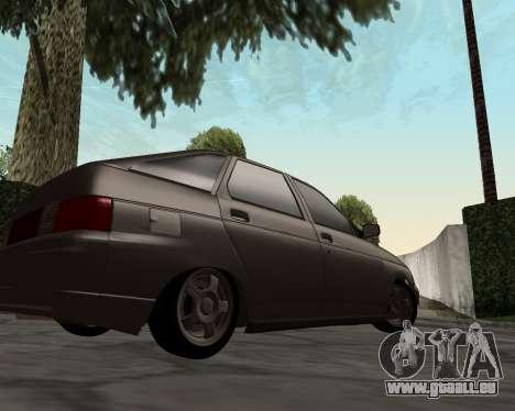VAZ 2112 pour GTA San Andreas laissé vue