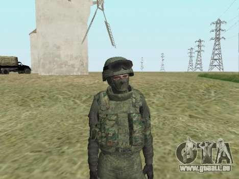 Pak-Kämpfer von speziellen Truppen von GRU für GTA San Andreas siebten Screenshot