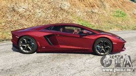 GTA 5 Lamborghini Aventador LP700-4 v0.2 vue latérale gauche