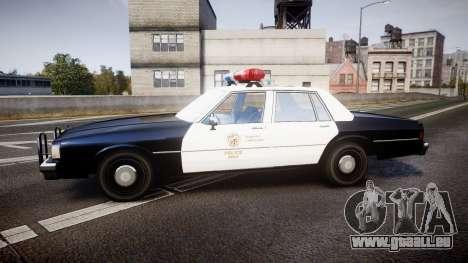 Chevrolet Caprice 1989 LAPD [ELS] pour GTA 4 est une gauche
