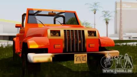 Mesa Tuned pour GTA San Andreas sur la vue arrière gauche
