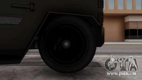 GTA 5 Enforcer Indonesian Police Type 2 pour GTA San Andreas sur la vue arrière gauche