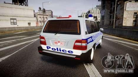 Toyota Land Cruiser 100 2005 Police [ELS] pour GTA 4 Vue arrière de la gauche