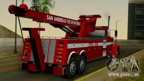 FDSA Heavy Rescue Truck pour GTA San Andreas laissé vue