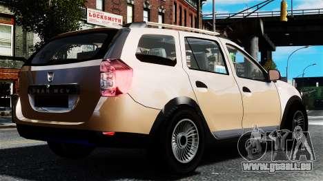 Dacia Logan MCV Stepway 2014 pour GTA 4 est une gauche