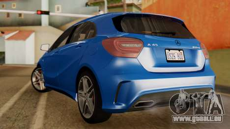 Mercedes-Benz A45 AMG 2012 PJ pour GTA San Andreas laissé vue