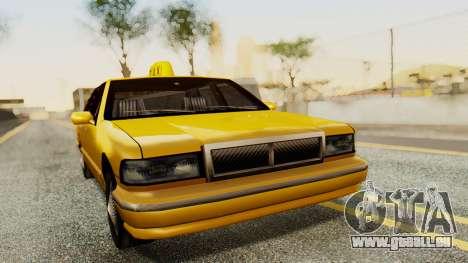Declasse Premier Taxi für GTA San Andreas zurück linke Ansicht