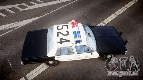 Chevrolet Caprice 1989 LAPD [ELS] für GTA 4 rechte Ansicht