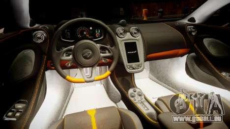 McLaren 570S 2015 rims3 pour GTA 4 Vue arrière