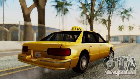 Declasse Premier Taxi pour GTA San Andreas laissé vue