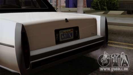 GTA 5 Albany Emperor pour GTA San Andreas vue de droite