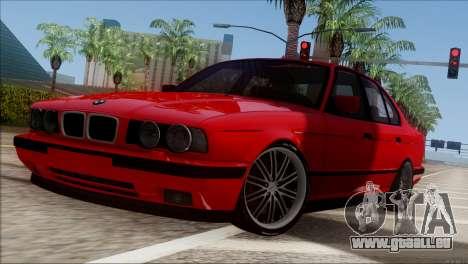 BMW M5 E34 BUFG Edition für GTA San Andreas linke Ansicht