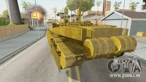 T-90MS CoD Ghost pour GTA San Andreas laissé vue