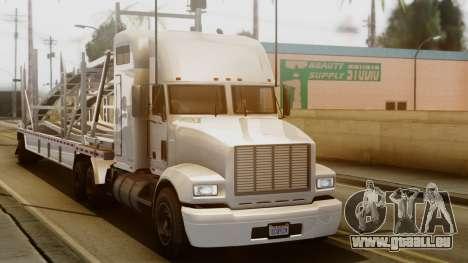 GTA 5 MTL Packer Driving pour GTA San Andreas sur la vue arrière gauche