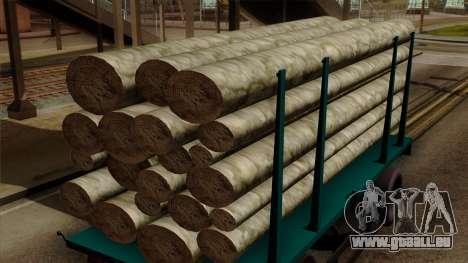 GTA 5 Fieldmaster Wood Trailer pour GTA San Andreas vue de droite