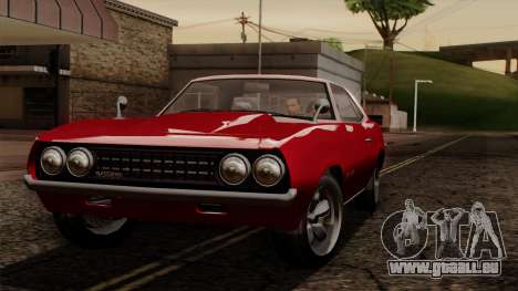 GTA 5 Declasse Vigero IVF pour GTA San Andreas vue intérieure