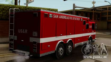 FDSA Urban Search & Rescue Truck für GTA San Andreas linke Ansicht