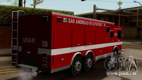 FDSA Urban Search & Rescue Truck pour GTA San Andreas laissé vue